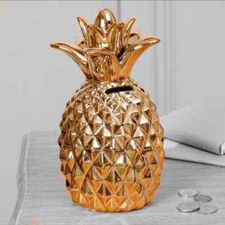 Gold Pineapple Money Jar