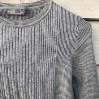 Asos Grey Ribbed Sweater Jumper Brand New