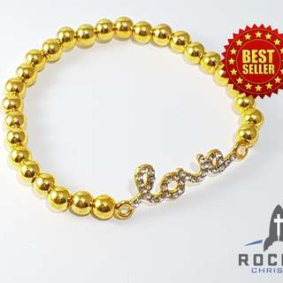 """Gold """"Love"""" Bracelet (Available Now)"""
