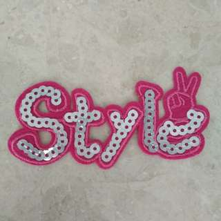 "Sew On Patch - ""Style"" Sequins"