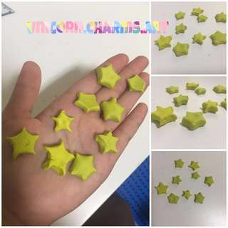 personalised name clay stars