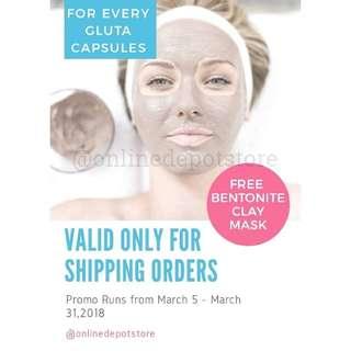 Glutathione with free Clay mask