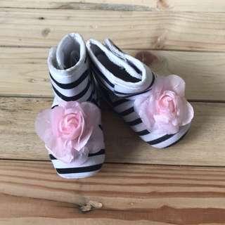 Baby Zara high cut booties
