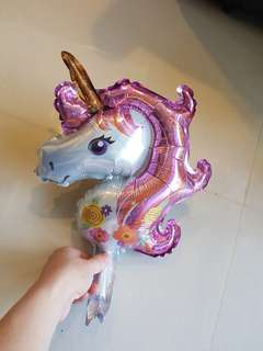 mini unicorn foil balloon
