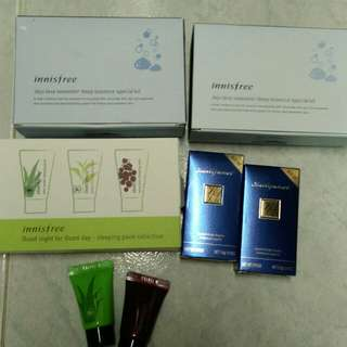 Innisfree products and lipstick