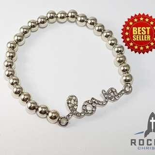 "Silver ""Love"" Bracelet (Available Now)"