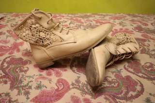 Forever 21 Beige Ankle Boots