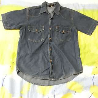 Denim outerwear shirt