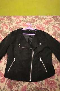 H&M Black Suede Jacket