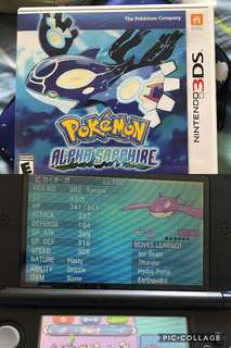 Pokemon Alpha Sapphire for 3DS ( Shinny )