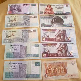 Uncirculated Egyptian Currency