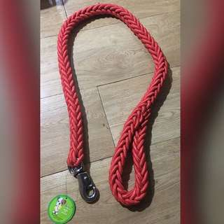 Pink Braided Dog Leash (Very Thick Material)