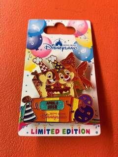 Chip & Dale Birthday2018 Disney Pin (Limited Edition)