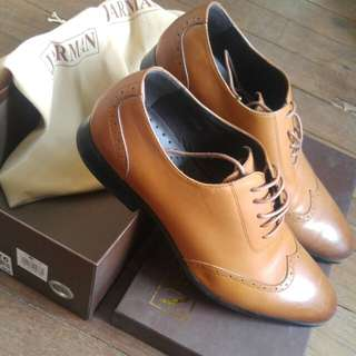 Jarman brown leather shoes
