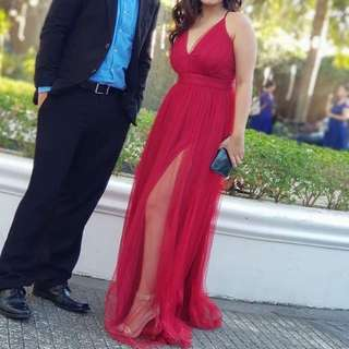 Red Formal Gown for rent