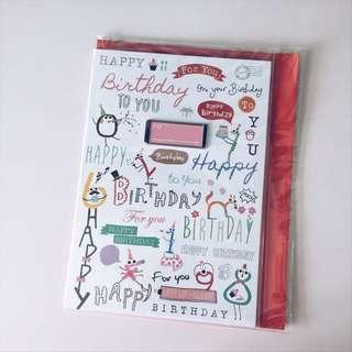 Hard Cover Birthday Card