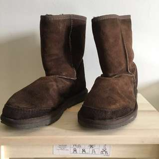 Authentic Ugg Dark Brown Adult Winter Boots