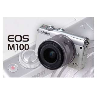 Canon EOS M100 Mirrorless Digital Camera with 15-45mm Lens (white/grey)