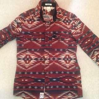 H&M Oxford Long Sleeve Shirt (XS - Red)