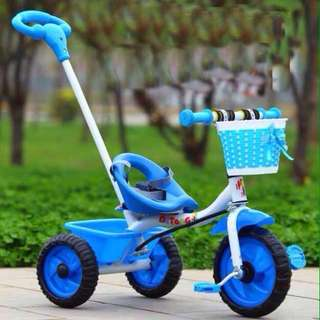Blue 3 Wheels Toddler Bike Tricycle with Handle