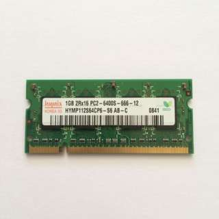 Laptop 1GB DDR2-800MHz Memory