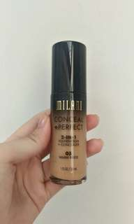 Preloved Conceal+Perfect Milani 2 in 1 Foundation+Concealer