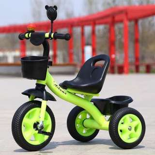 Green 3 Wheel Bike for Toddlers