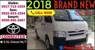 2018 Toyota Hiace Commuter 3.0L 15-Seater MT