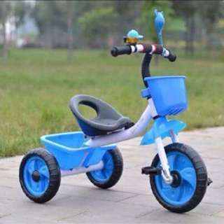 Blue Toddlers Bike 3 Wheels Ride On Tricycle