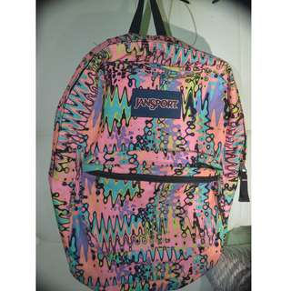 jansport pink neon bag