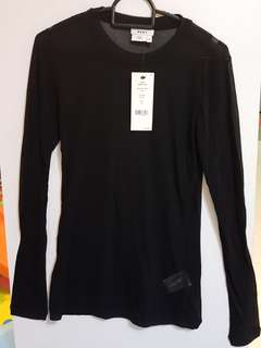 DKNY! Authentic translucent long sleeve Top from USA