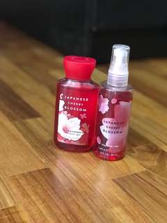 BN Bath and Body Works Cherry Blossom Set