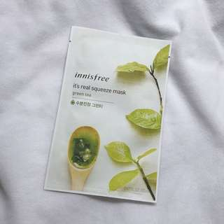 innisfree it's real squeeze mask (Green Tea)