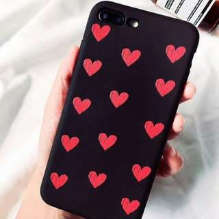 Pink and Black Heart Case