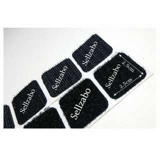 Black Colour 8 Loose Sets Velcro Hook & Loop Self Adhesive Tapes Stickers Sellzabo Stick Paste Stationery