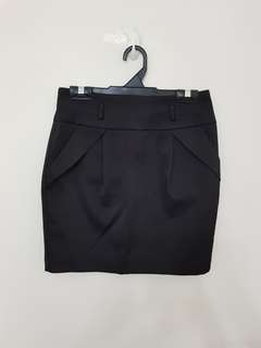 Black Tight Skirt Short