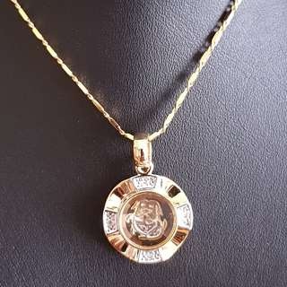 Chinese Dog zodiac lucky charm pendant (时来运转生肖) Gold & Silver Mix