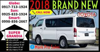 2018 Toyota Hiace Super Grandia Fabric 3.0L AT