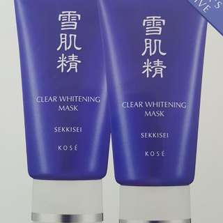 Kose Sekkisei Clear Whitening Mask Duo