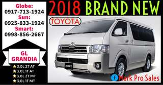 2018 Toyota Hiace GL Grandia 3.0L 13-Seater MT