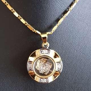 Chinese Goat zodiac lucky charm pendant (时来运转生肖) Gold & Silver Mix