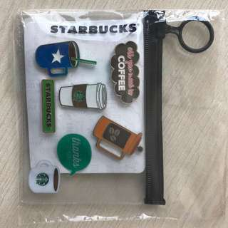 Authentic starbucks pin set B (5 pins)