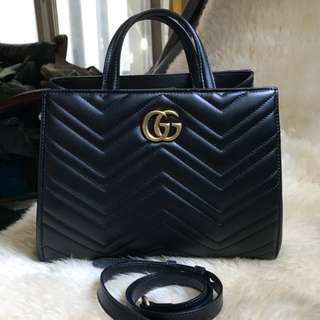 Authentic Gucci Marmont Top Handle Bag