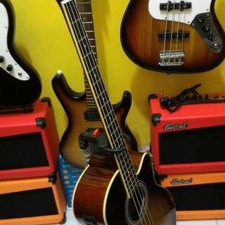 Bass elektrik ibanez akustik
