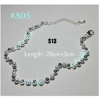 #A5 Anklet Silver