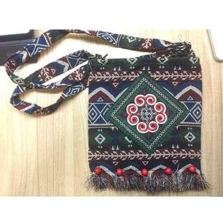 Handmade handmade brocade fabric bag