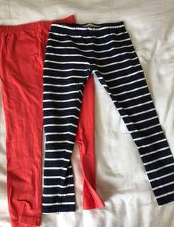 Set of 2 girls leggings