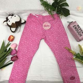 Pink leopard girl's pant