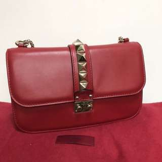 Valentino Lock  medium bag in red
