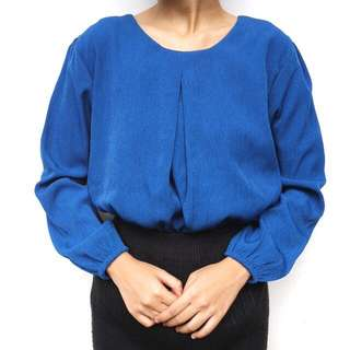 Blue top / atasan biru muslim